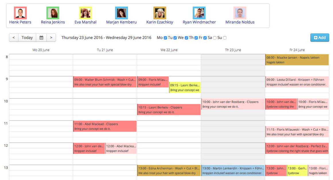 jba agenda week view